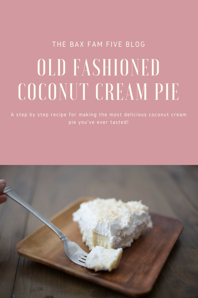 Step by step recipe for old the most delicious old fashioned coconut cream pie.