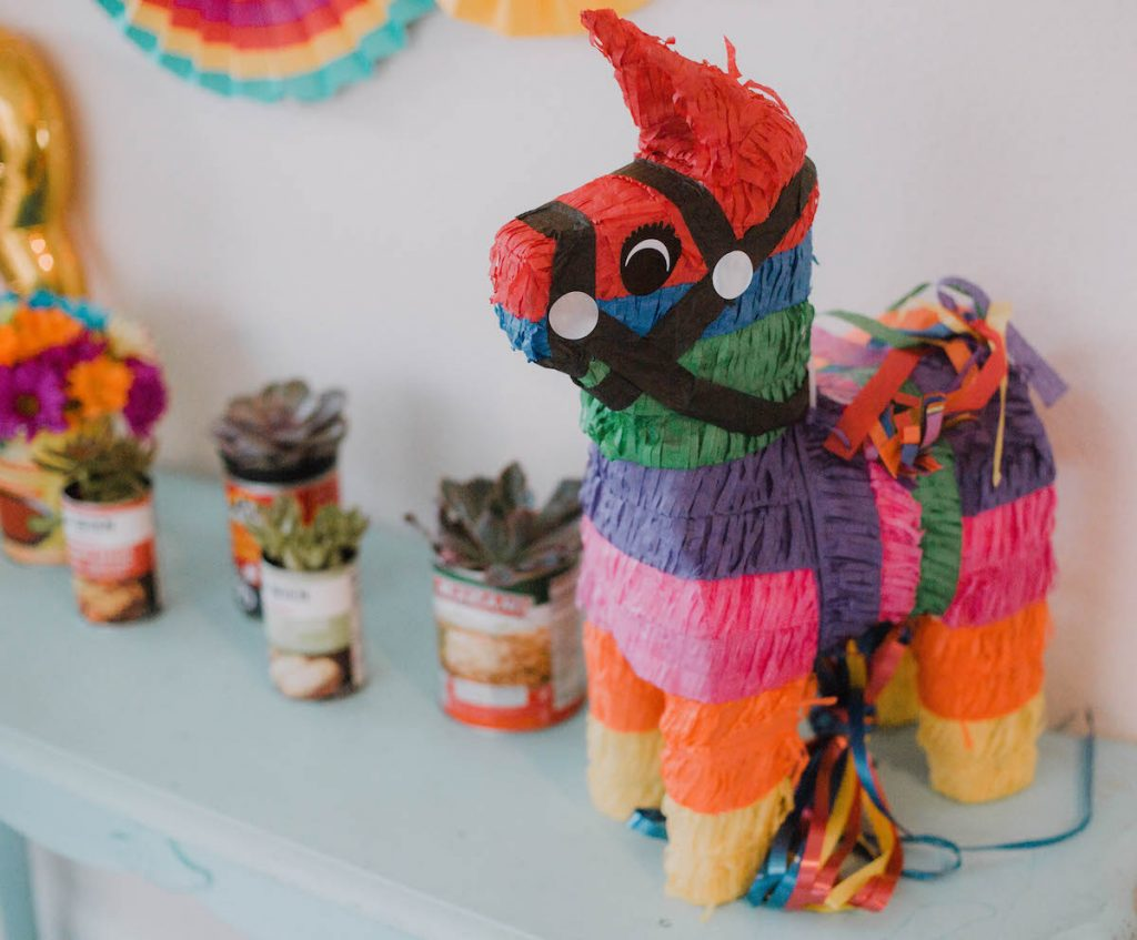 fiesta celebration birthday party third birthday Houston blogger lifestyle blog mom blog mommy blogger 2018 party decorations pinata