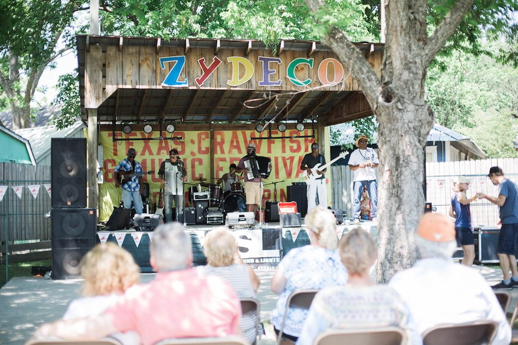 Zydeco music at the Texas crawfish and music festival in old town spring 2018 lifestyle blogger mom blog Houston