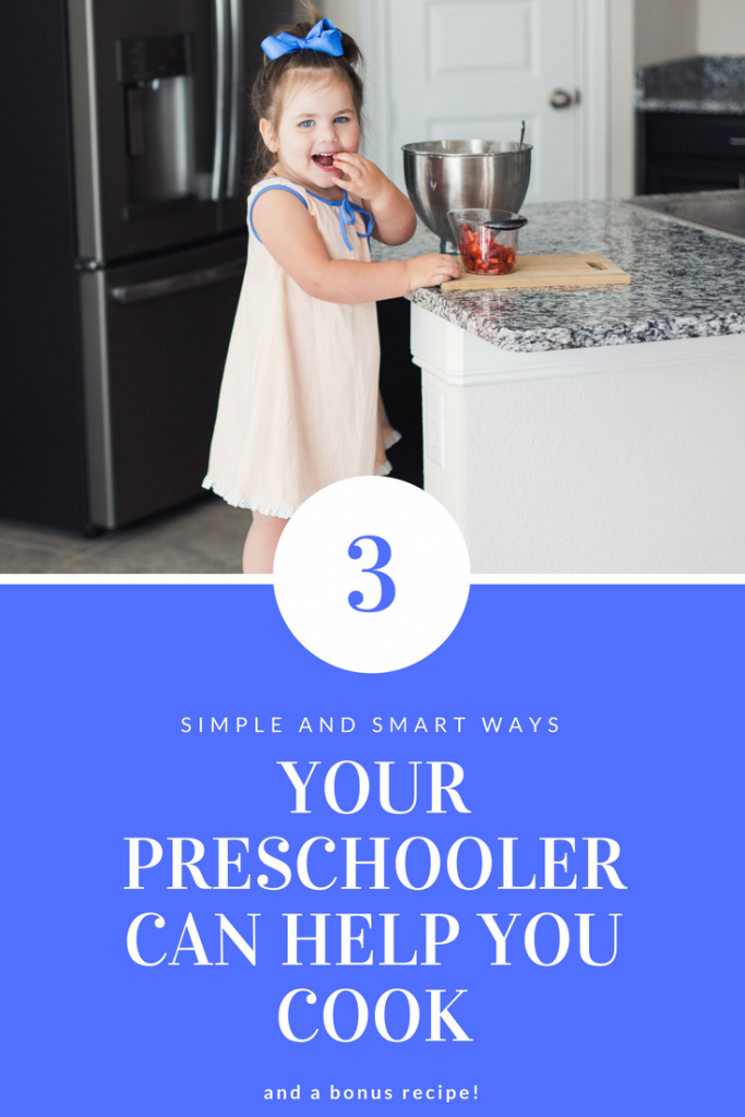 3 simple and smart ways your preschooler can help you cook! Kids in the kitchen.