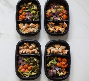 The basics of meal prepping to save money, save time, and save sanity! Roasted chicken and rainbow veggies recipe.