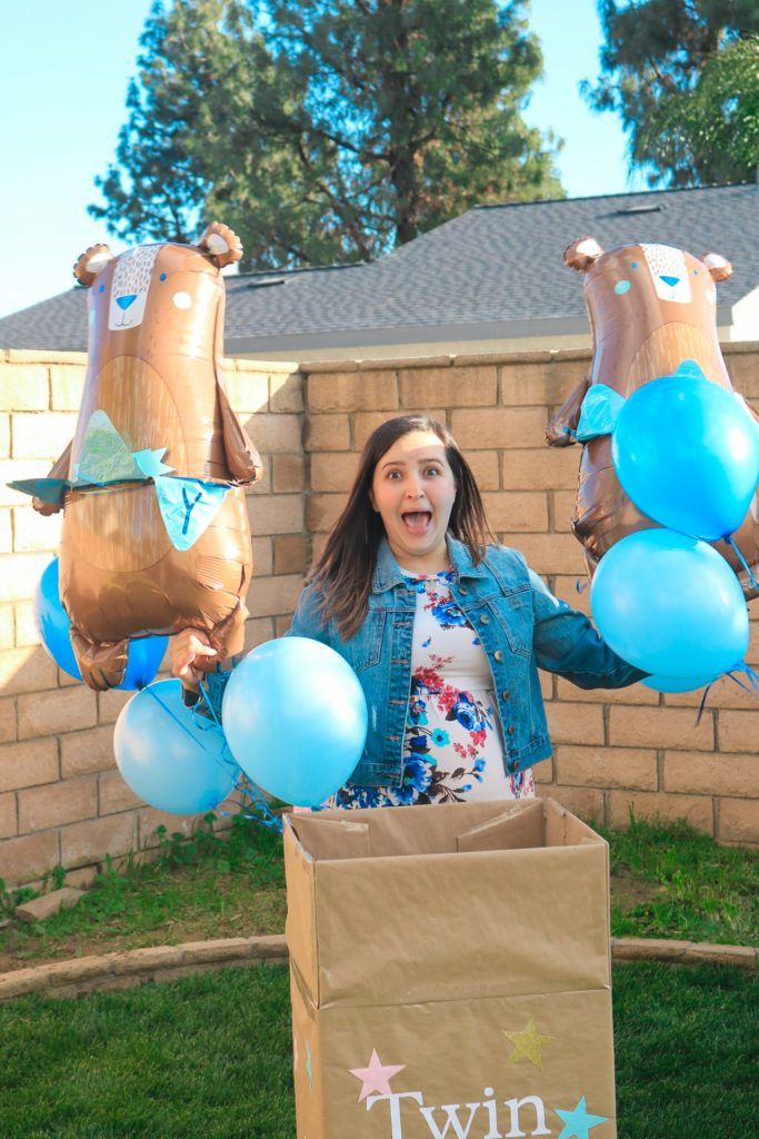 creative twin gender reveal blue balloons it's two boys